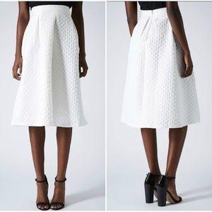 NWOT Topshop Diamond Jacquard Midi Skirt